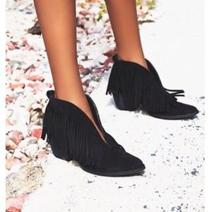 FREE PEOPLE Coconuts Fringe Boots